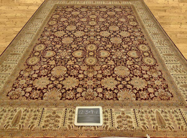Pak Persian Red allover 9x12 Rug