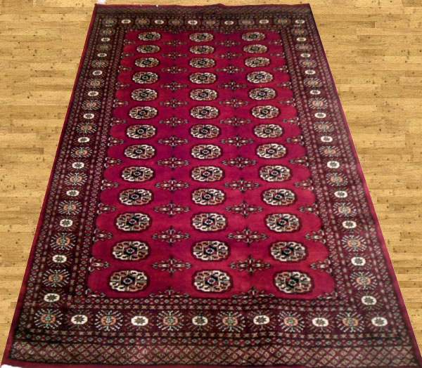 Pakistan Mori Bokhara Rug In Red: Mori Bokhara : Fine Quality Double Pile And 2 Ply Bokhara Rugs